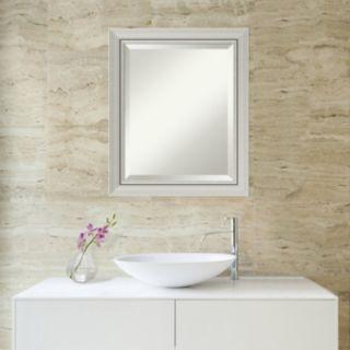Amanti Art Romano Silver Finish Wall Mirror
