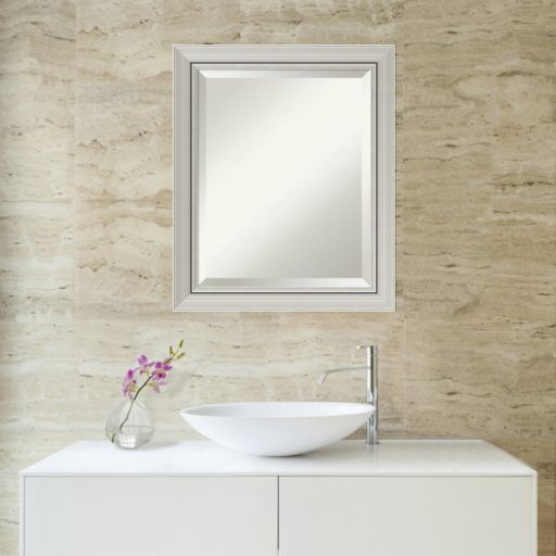Amanti Art Romano Silver Finish Wall Mirror