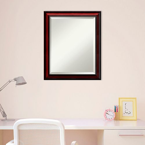 Amanti Art Rubino Cherry Finish Scoop Wall Mirror