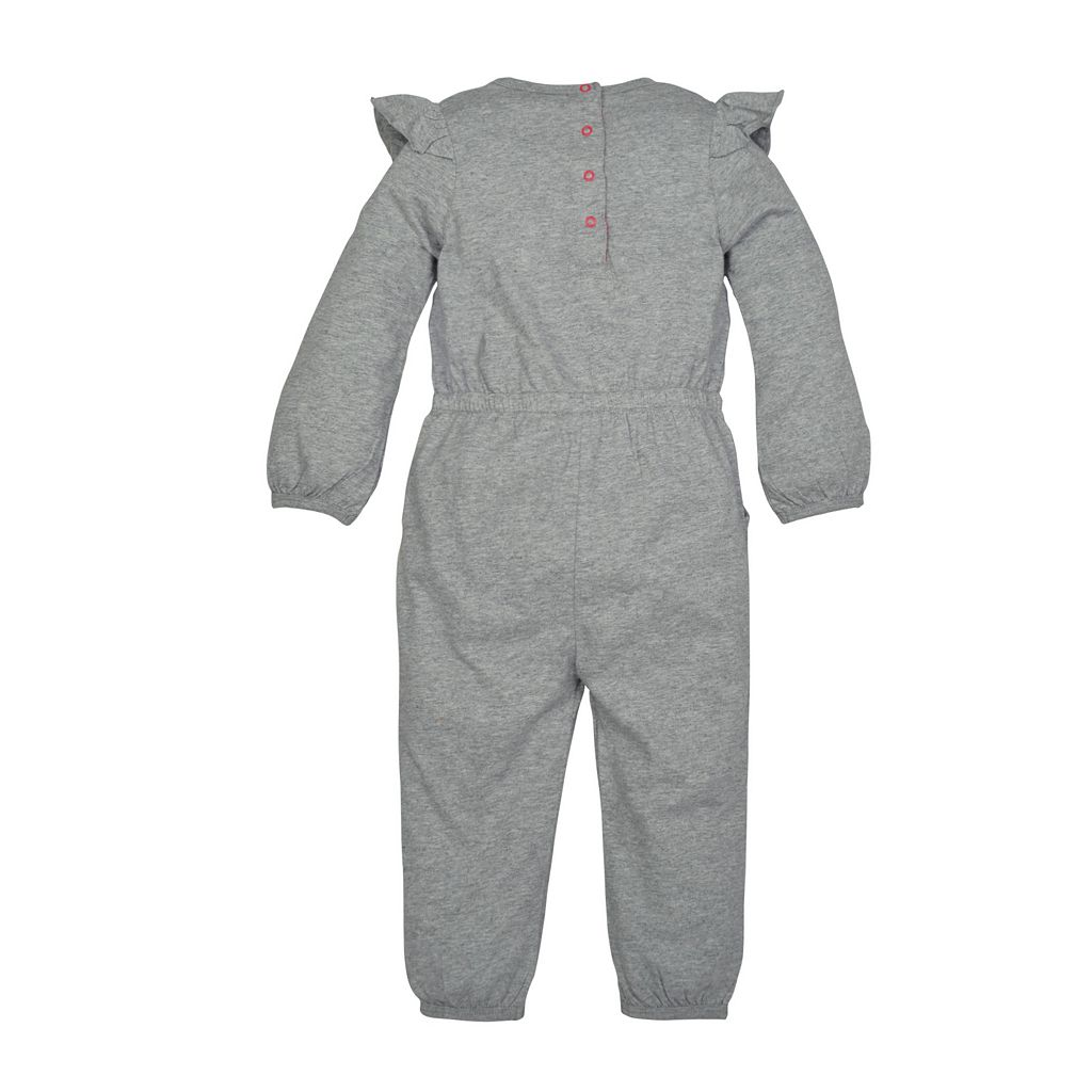 Toddler Girl Burt's Bees Baby Organic Ruffled Jumpsuit