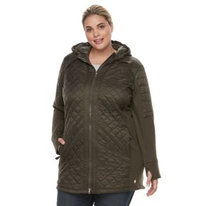 Plus Size Tek Gear® Hooded Quilted Jacket