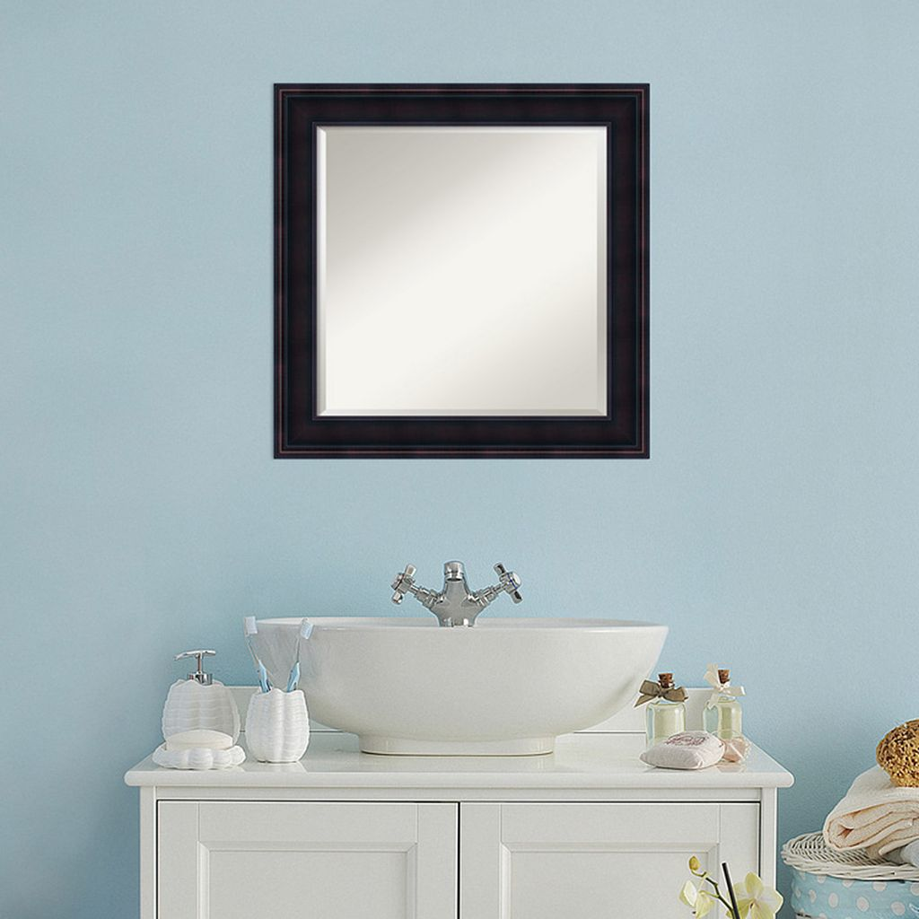 Amanti Art Traditional Square Wall Mirror
