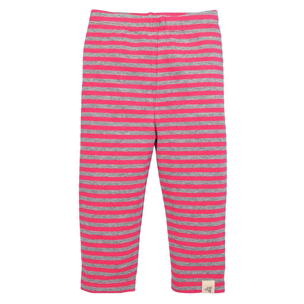 Toddler Girl Burt's Bees Baby Organic Butterfly Tunic & Striped Pants Set