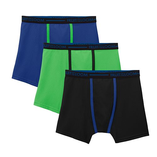 Boys 4-20 Fruit of the Loom 3-pack Micro-Mesh Boxer Briefs