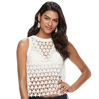 Juniors' Candie's® Open-Work Star Lace Tank