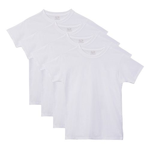 Boys 4-20 Fruit of the Loom 4-pack Tag-Free Crewneck Tees