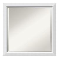 Amanti Art Wall White Square Wall Mirror