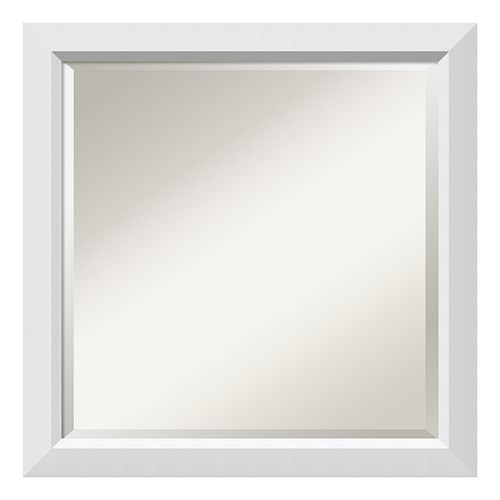Amanti Art Wall White Square Wall Mirror