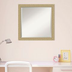 Amanti Art Champagne Finish Square Wall Mirror