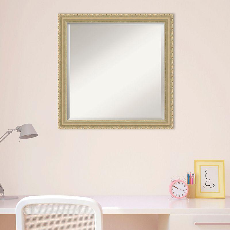 Amanti Art Champagne Finish Square Wall Mirror, Clrs, 23X23