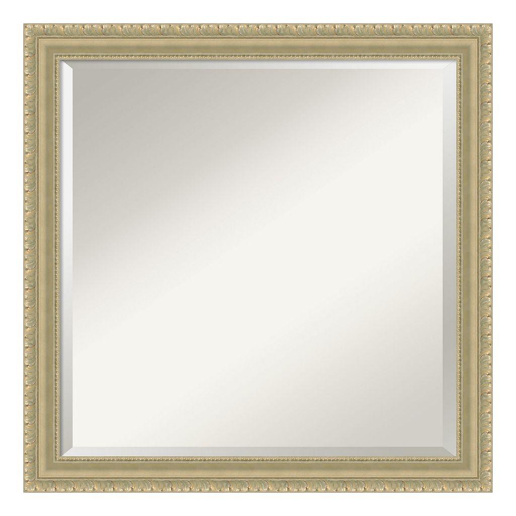 Amanti Art Champagne Finish Square Wall Mirror