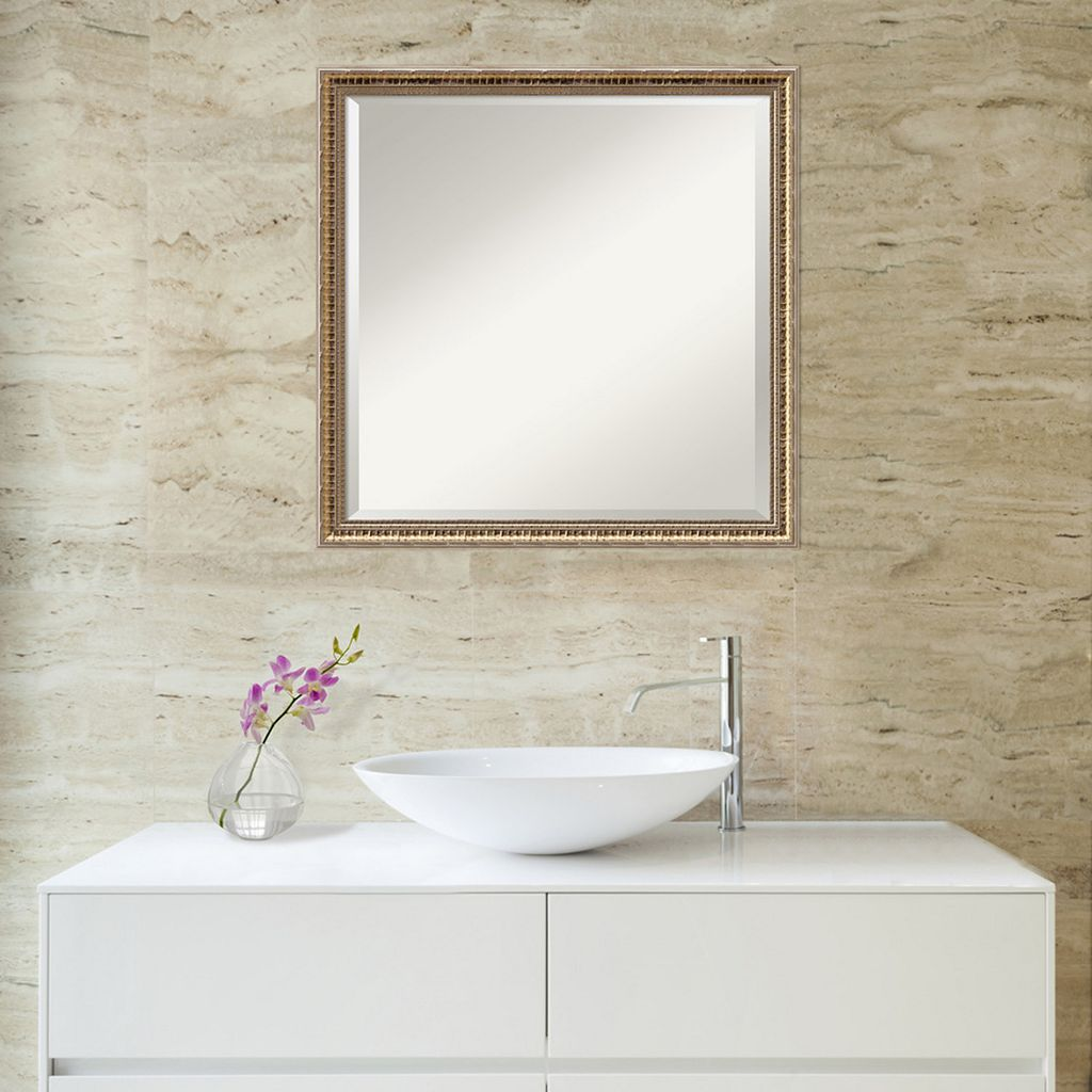 Amanti Art Square Fluted Wall Mirror