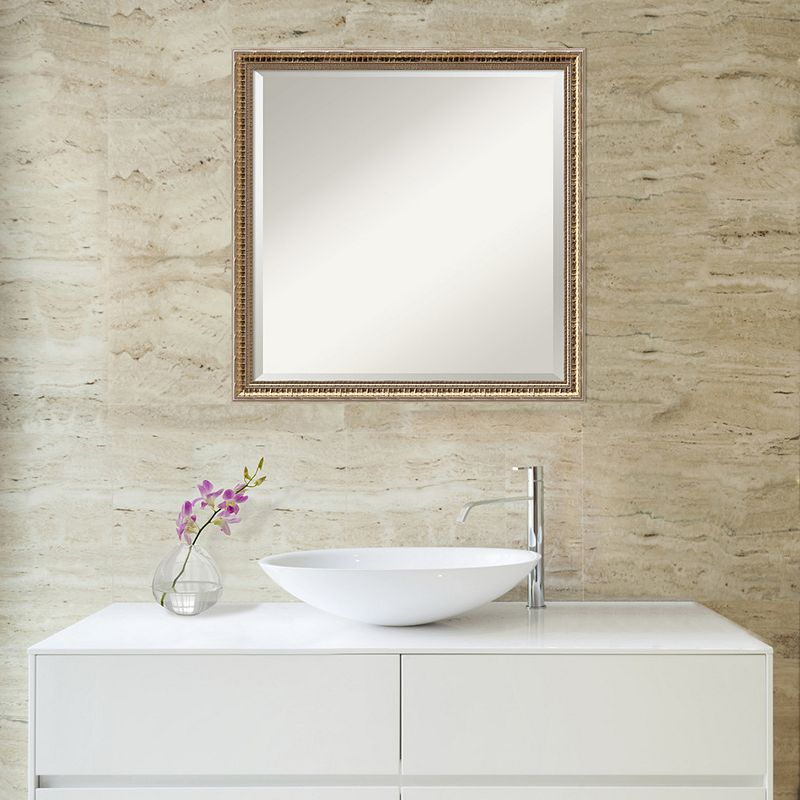 Amanti Art Square Fluted Wall Mirror, Clrs, 22X22