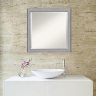 Amanti Art Medium Washed Gray Square Wall Mirror