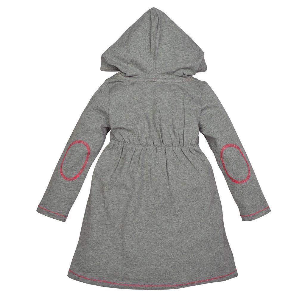 Toddler Girl Burt's Bees Baby Organic Hooded Dress & Speckled Leggings Set