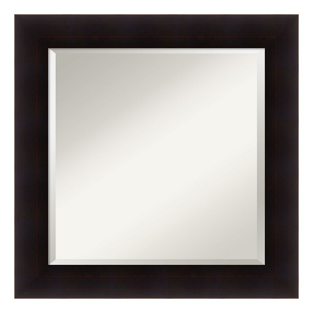 Amanti Art Square Espresso Finish Wall Mirror