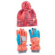 Girls 4-16 ZeroXposur Maggie Yarn Knit Hat & Gloves Set