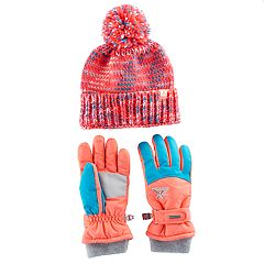 Girls 4-16 ZeroXposur Maggie Yarn Knit Hat & Gloves Set