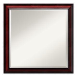 Amanti Art Rubino Cherry Finish Scoop Square Wall Mirror