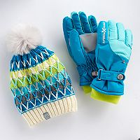 Girls 4-16 ZeroXposur Nikki Fleece Gaiter Gloves & Hat Set