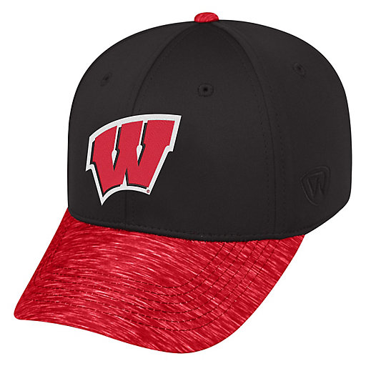 af6f2c91d40e21 Adult Top of the World Wisconsin Badgers Lightspeed One-Fit Cap