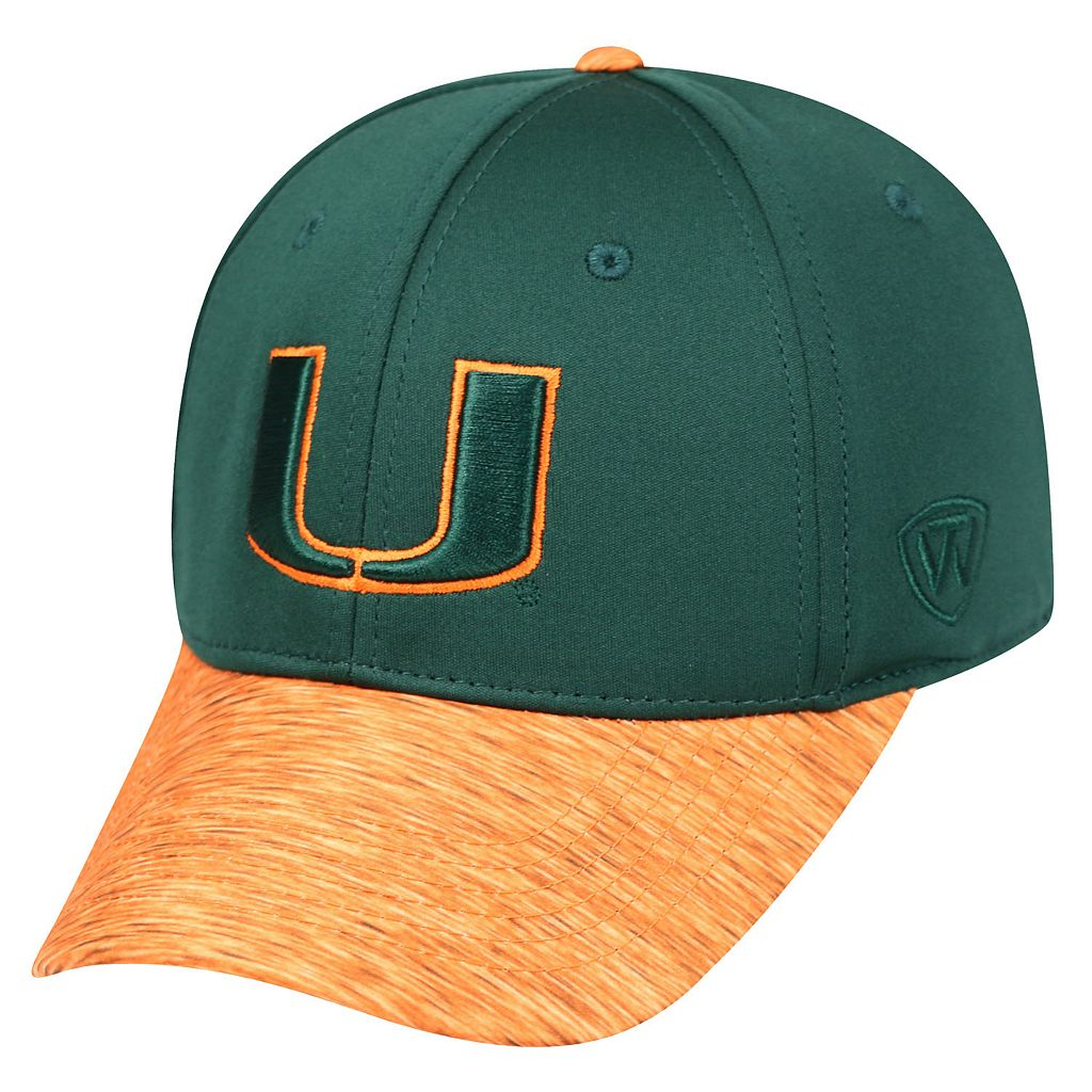 Adult Top of the World Miami Hurricanes Lightspeed One-Fit Cap