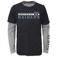 Boys 8-20 Oakland Raiders Interface Dri-Tek Tee Set