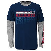 Boys 8-20 New England Patriots Interface Dri-Tek Tee Set