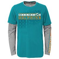 Boys 8-20 Miami Dolphins Interface Dri-Tek Tee Set