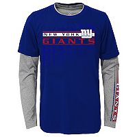 Boys 8-20 New York Giants Interface Dri-Tek Tee Set