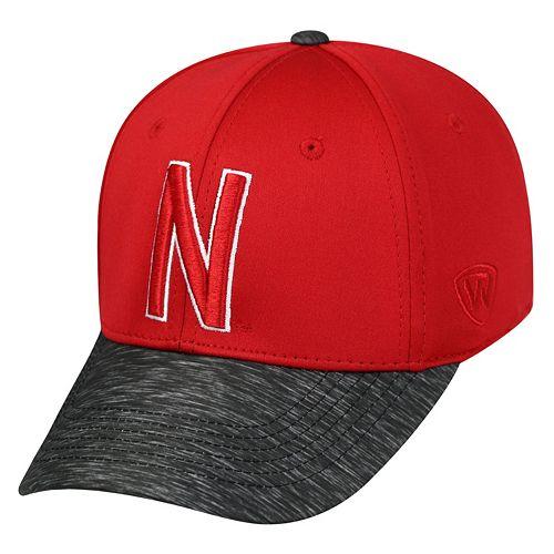 Adult Top of the World Nebraska Cornhuskers Lightspeed One-Fit Cap