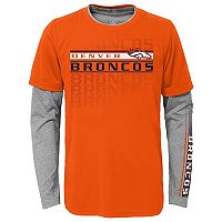 Boys 8-20 Denver Broncos Interface Dri-Tek Tee Set