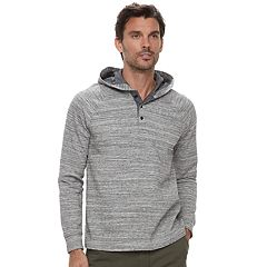 Men's Marc Anthony Slim-Fit Texture-Striped Henley Hoodie