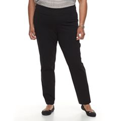 Plus Size Napa Valley Ponte Pull-On Pants