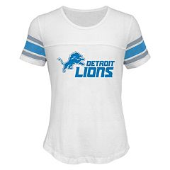 Girls 7-16 Detroit Lions Team Pride Burnout Tee