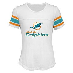 Girls 7-16 Miami Dolphins Team Pride Burnout Tee