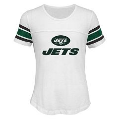 Girls 7-16 New York Jets Team Pride Burnout Tee