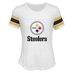 Girls 7-16 Pittsburgh Steelers Team Pride Burnout Tee