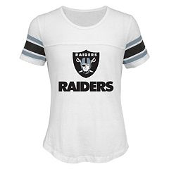 Girls 7-16 Oakland Raiders Team Pride Burnout Tee