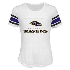 Girls 7-16 Baltimore Ravens Team Pride Burnout Tee