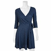 Juniors' IZ Byer California Knit Faux-Wrap Dress