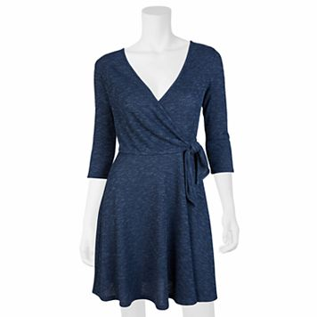 Juniors' IZ Byer Knit Faux-Wrap Dress