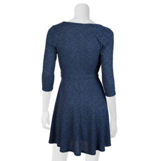 Juniors' IZ Byer Knit Faux-Wrap Dress