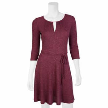Juniors' IZ Byer Keyhole Skater Dress