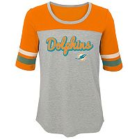 Girls 7-16 Miami Dolphins Fan-tastic Tee
