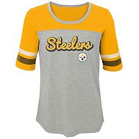 Girls 7-16 Pittsburgh Steelers Fan-tastic Tee
