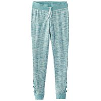 Girls 7-16 & Plus Size SO® Space-Dyed Lattice Hem Jogger Pants