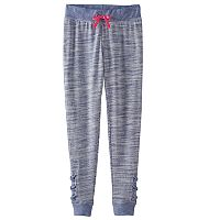 Girls 7-16 & Plus Size SO® Space-Dyed Lattice Hem Jogger Pants