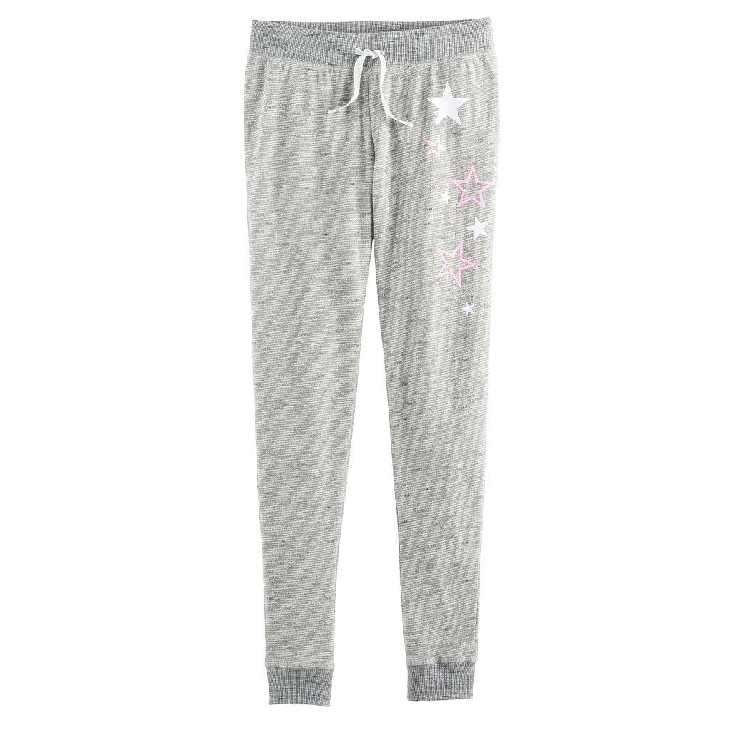 Girls 7-16 & Plus Size SO® Metallic Jogger Pants