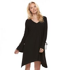 Juniors' Love, Fire Ribbed Bell Sleeve Swing Dress